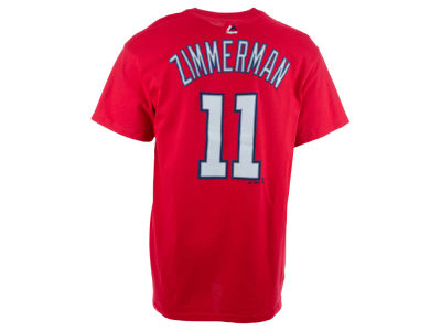 Washington Nationals Ryan Zimmerman Majestic MLB Men's Official Player T-Shirt