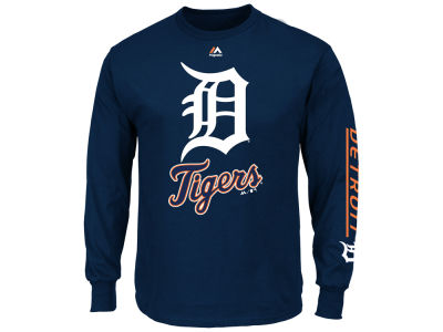 Detroit Tigers Majestic MLB Men's Bend Don't Break Long Sleeve T-Shirt