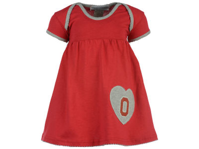Ohio State Buckeyes NCAA Toddler Girls Heart Dress