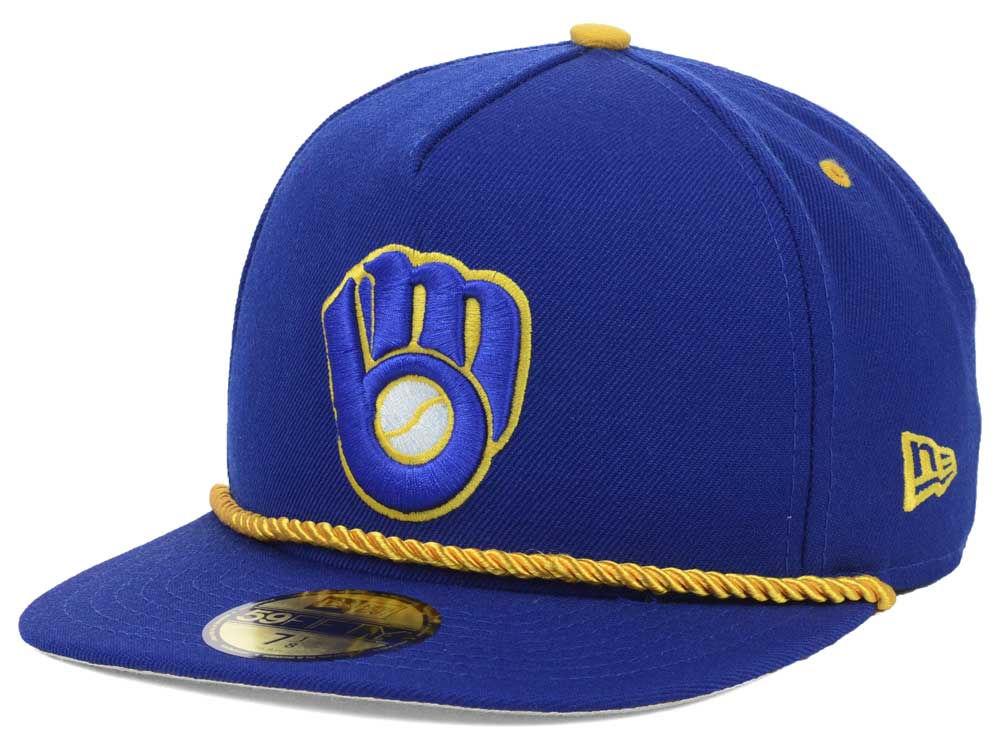 b4e292aed061c Milwaukee Brewers New Era MLB Hall A-Frame 59FIFTY Cap