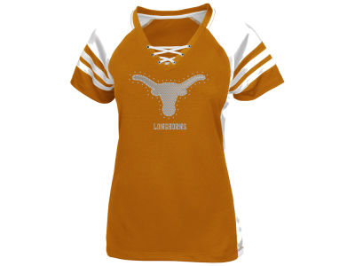 Texas Longhorns NCAA Women's Final Quarter Lace Up T-Shirt