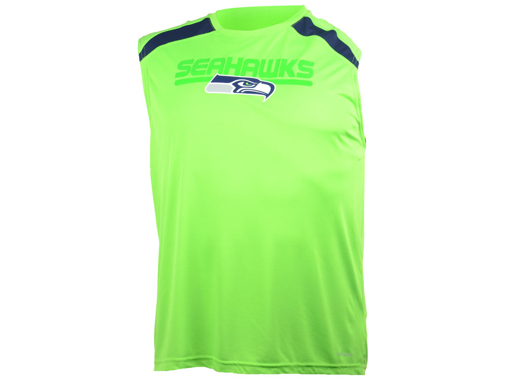 3380837bb Seattle Seahawks NFL Fanfare VII Cool Base Sleeveless T-Shirt