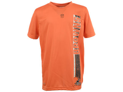 Cleveland Browns NFL Youth Shatter Text Dri Tek T-Shirt