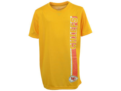 Kansas City Chiefs NFL Youth Shatter Text Dri Tek T-Shirt