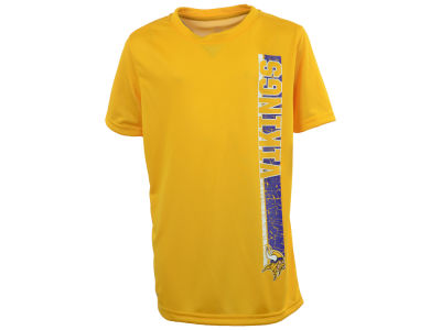 Minnesota Vikings NFL Youth Shatter Text Dri Tek T-Shirt