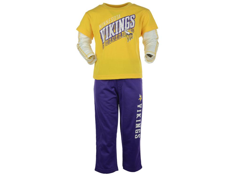 Minnesota Vikings NFL Toddler Off Field Pant Set  2e3e7b62a