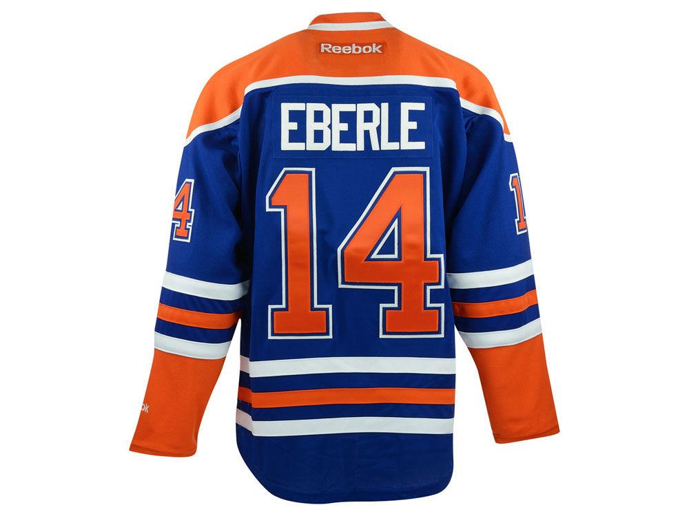 f61b9dcbe Edmonton Oilers Jordan Eberle Reebok NHL CN PT Premier Player Jersey ...