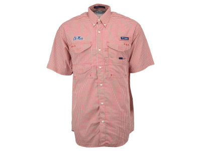 Ole Miss Rebels Columbia NCAA Super Bonehead Button Up Shirt