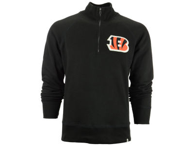 Cincinnati Bengals '47 NFL Men's Cross Check 1/4 Zip Shirt