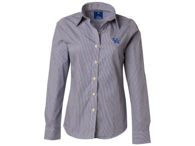 Kentucky Wildcats Antigua NCAA Womens Long Sleeve Focus Button Down Collar Shirt