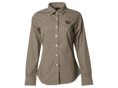 Washington Huskies NCAA Womens Long Sleeve Focus Button Down Collar Shirt