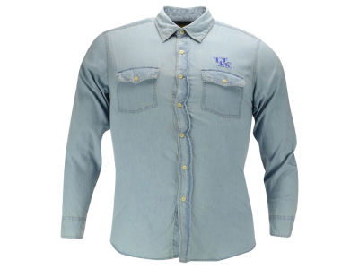 Kentucky Wildcats NCAA Denim Chambray Button Up Shirt
