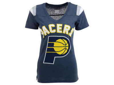 Indiana Pacers 5th & Ocean NBA Womens Shoulder Stripe T-Shirt