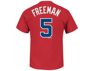 Atlanta Braves Freddie Freeman Majestic MLB Men's Official Player T-Shirt