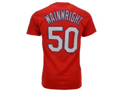 St. Louis Cardinals Adam Wainwright Majestic MLB Men's Official Player T-Shirt