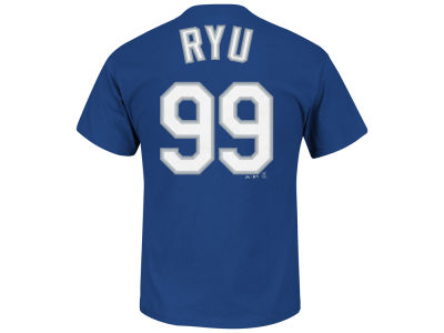 Los Angeles Dodgers Hyun-jin Ryu Majestic MLB Men's Official Player T-Shirt