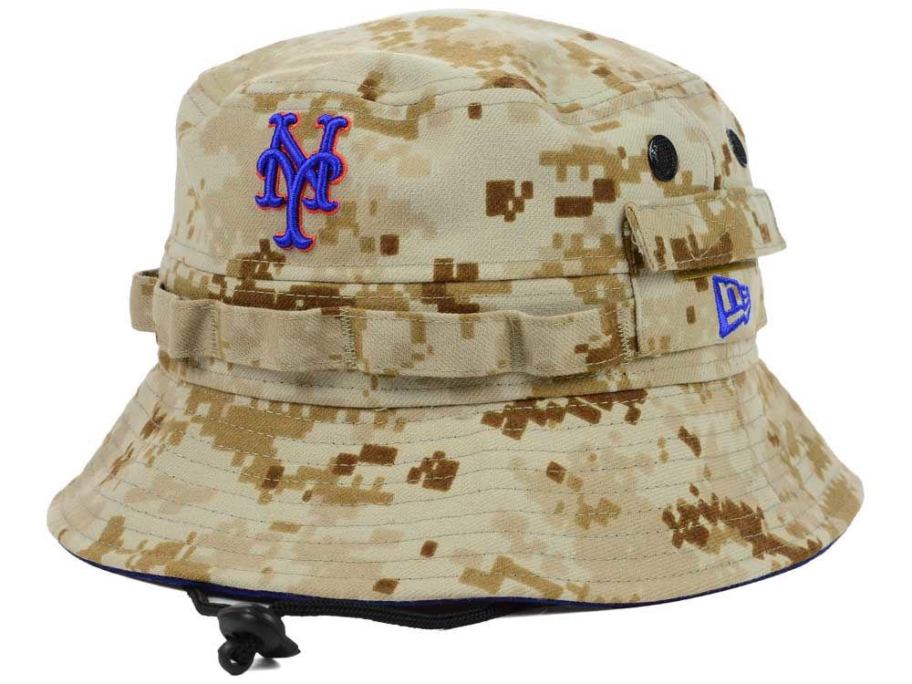 New York Mets New Era MLB Camo Hideaway Bucket  5445d00c777