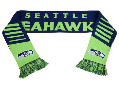 Seattle Seahawks Acrylic Knit Scarf Wordmark