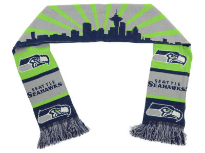 Seattle Seahawks Acrylic Knit Scarf Skyline