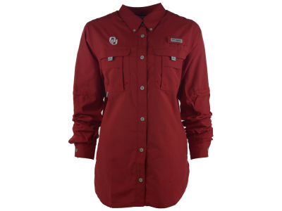 Oklahoma Sooners Columbia NCAA Women's Bahama Long Sleeve Button Up Shirt