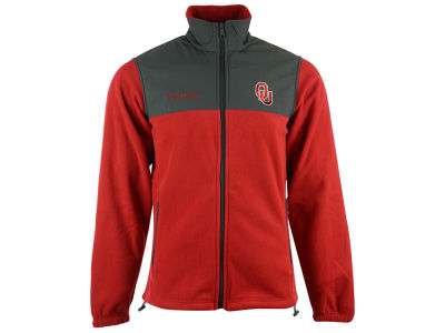 Oklahoma Sooners Columbia NCAA Men's Fast Tech Fleece Jacket