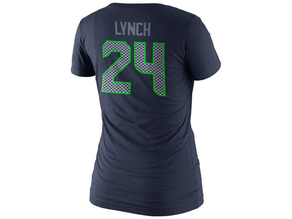 469be073d Seattle Seahawks Marshawn Lynch Nike NFL Super Bowl XLVIII Womens Bound  Player T-Shirt