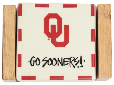 Oklahoma Sooners Ceramic Coaster Set-4 pack