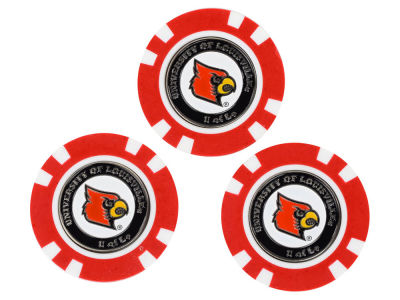 Louisville Cardinals Golf Poker Chip Markers 3 Pack