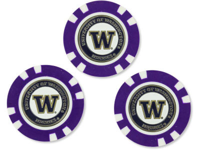 Washington Huskies Golf Poker Chip Markers 3 Pack