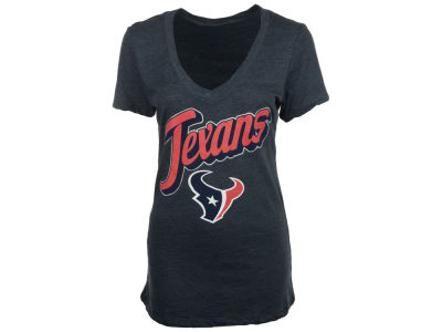Houston Texans 5th & Ocean NFL Womens Tri Natural Vneck T-Shirt 2014