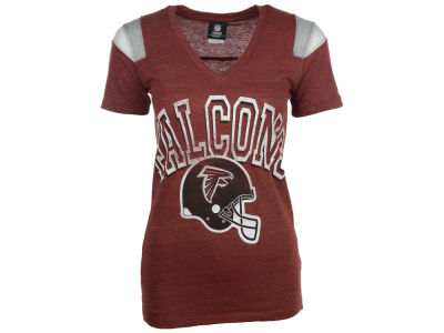 Atlanta Falcons 5th & Ocean NFL Womens Shoulder Stripe T-Shirt 2014