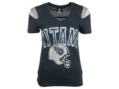 Tennessee Titans NFL Womens Shoulder Stripe T-Shirt 2014