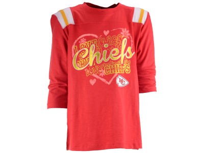 Kansas City Chiefs NFL Girls Love Raglan T-Shirt