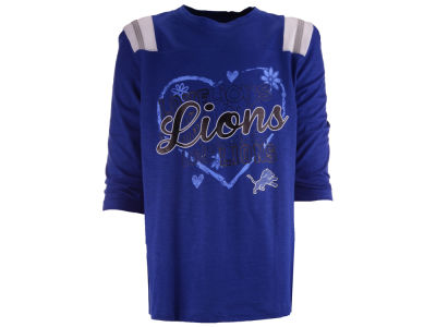 Detroit Lions 5th & Ocean NFL Girls Love Raglan T-Shirt