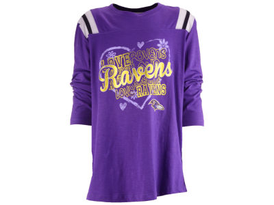 Baltimore Ravens 5th & Ocean NFL Girls Love Raglan T-Shirt
