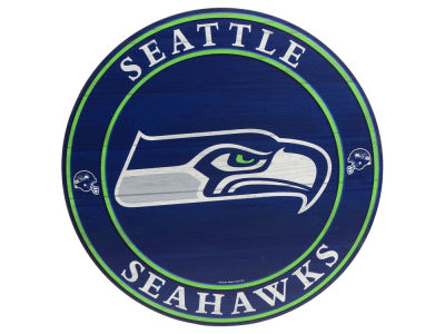 Seattle Seahawks Circle Wood Sign