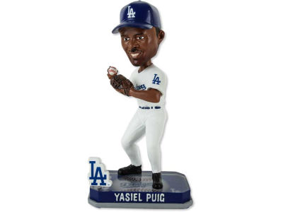 Los Angeles Dodgers Yasiel Puig Springy Logo Bobble