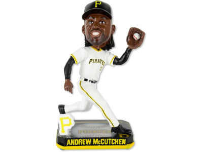 Pittsburgh Pirates Andrew McCutchen Springy Logo Bobble