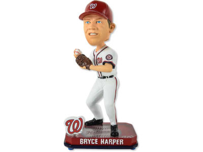 Washington Nationals Bryce Harper Springy Logo Bobble