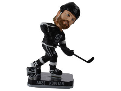 Los Angeles Kings Anze Kopitar Springy Logo Bobble