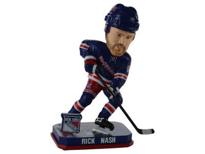New York Rangers Rick Nash Springy Logo Bobble