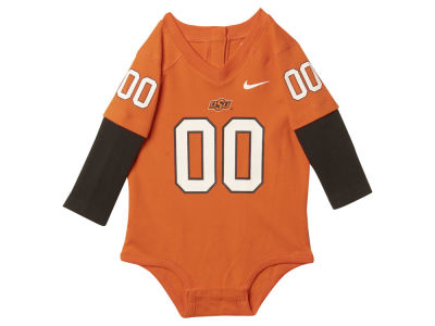 Oklahoma State Cowboys NCAA Newborn 2-Fer Football Jersey Creeper