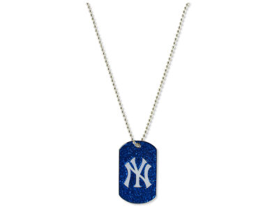New York Yankees Glitter Dog Tag