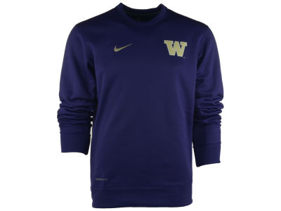 Washington Huskies Nike NCAA KO Chain Fleece Crewneck Sweatshirt
