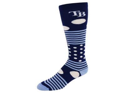 Tampa Bay Rays For Bare Feet Dots and Stripes Sock