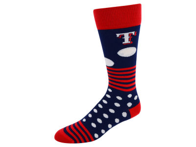 Texas Rangers Dots and Stripes Sock