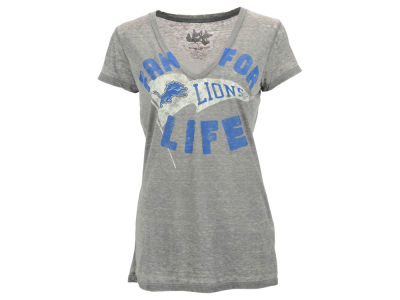 Detroit Lions GIII NFL Women's Fan For Life Deep V-Neck T-Shirt