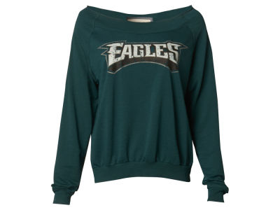 Philadelphia Eagles NFL Women's Distressed Long Sleeve Thermal Shirt