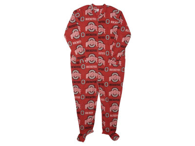 Ohio State Buckeyes NCAA Men's Flannel Footed Sleeper
