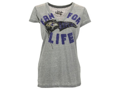 Baltimore Ravens GIII NFL Women's Fan For Life Deep V-Neck T-Shirt